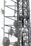 Антенны и репитеры радиосвязей Стоковое Изображение RF