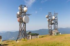 Антенны на горах Стоковые Изображения RF