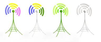 антенны 3d цветастые бесплатная иллюстрация