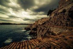 Антиб, Франция: город в французской ривьере между Канн и славное Стоковые Фото