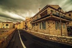Антиб, Франция: город в французской ривьере между Канн и славное Стоковые Фотографии RF