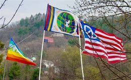Антивоенная демонстрация, Asheville стоковое фото
