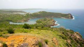 Антигуа, карибские острова, английское ` s гавани и Нельсона стыкуют двор стоковое фото rf