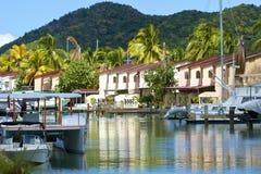 Антигуа, частная гавань, карибская Стоковое Изображение RF