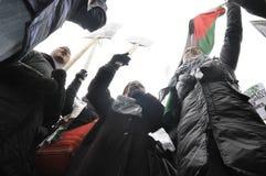 Антиизраильское занятие ралли Газа. стоковое изображение