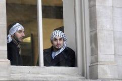 Антиизраильское занятие ралли Газа. Стоковые Фотографии RF