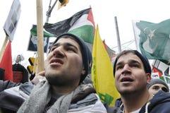 Антиизраильское занятие ралли Газа. Стоковые Изображения RF