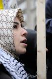 Антиизраильское занятие ралли Газа. стоковые фото