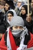 Антиизраильское занятие ралли Газа. стоковая фотография rf