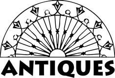 Антиквариаты логотипа - вектор иллюстрация штока