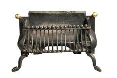 Антиквариат железной решетки камина старый Стоковые Изображения