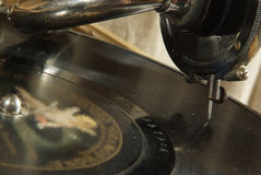 антикварная плита нот патефона Стоковое Изображение