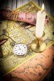 Антикварный карманный вахта Стоковые Фото