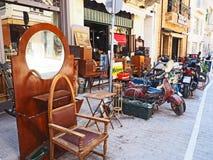 Антикварный магазин на улицах Афин, Греции стоковые изображения rf