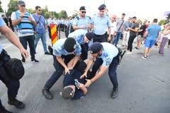 Антипровительственный протест в Бухаресте Стоковая Фотография
