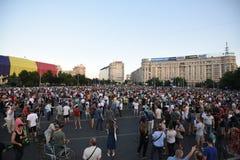 Антипровительственный протест в Бухаресте Стоковое Фото