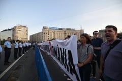 Антипровительственный протест в Бухаресте Стоковые Изображения RF