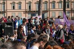 Антипровительственный протест в Риме стоковое изображение