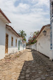 Античная архитектура и улица в городе Paraty Стоковые Изображения RF