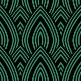 Античная безшовная зеленая линейная шкала повторения кривой предпосылки иллюстрация вектора