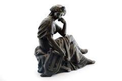 античная белизна статуи металла предпосылки Стоковое Фото