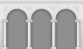 Античная белая аркада Стоковая Фотография