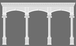 Античная белая аркада Стоковое Фото