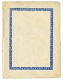 Античная бумага с декоративной рамкой и сорванными краями стоковое фото rf