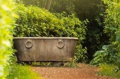 Античная ванна в саде Стоковые Изображения RF