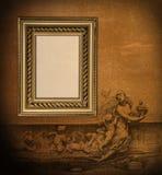 античная вертикаль рамки формы Стоковая Фотография
