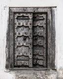 античная дверь деревянная Стоковое фото RF