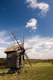 античная ветрянка деревянная Стоковое Изображение RF
