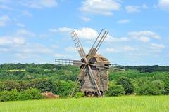 античная ветрянка деревянная Стоковое Изображение