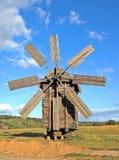 античная ветрянка деревянная Стоковая Фотография RF