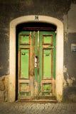 Античная винтажная дверь Стоковые Изображения
