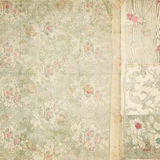 Античная винтажная предпосылка коллажа флористических обоев Стоковое Изображение