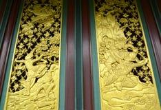 античная высекая древесина Стоковое Изображение