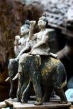 античная высекая древесина Стоковая Фотография