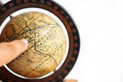 Античная глобальная карта Стоковое Изображение