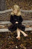 античная девушка стенда Стоковое Фото