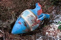 Античная деревенская керамическая ваза Стоковая Фотография RF