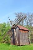 Античная деревянная ветрянка Стоковые Изображения RF