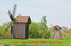 Античная деревянная ветрянка Стоковое Фото