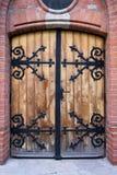 Античная деревянная дверь Стоковое фото RF
