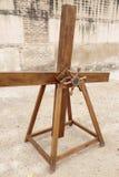 Античная деревянная машина для того чтобы сымитировать звук дождя стоковые изображения rf