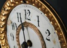 античная деталь часов Стоковое Фото