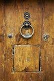 античная древесина двери Стоковая Фотография RF
