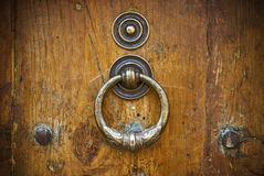 античная древесина двери Стоковая Фотография