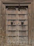 Античная деревянная дверь Стоковая Фотография