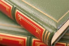 Античная деталь крышки кожи книги Стоковое Фото